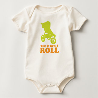baby how i roll baby bodysuit
