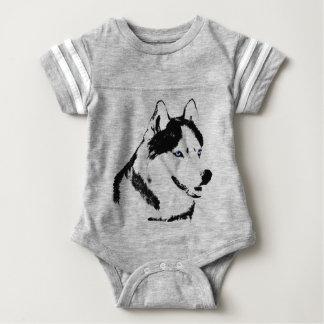 Baby Husky Bodysuit Baby Siberian Husky One-piece