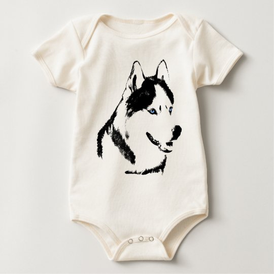 Baby Husky Creeper Sled Dog Baby Gifts