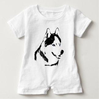 Baby Husky Romper Siberian Husky Romper Customize Baby Bodysuit