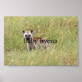 baby hyena poster