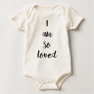 "Baby ""I am so loved"" Baby Bodysuit"