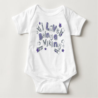 BABY I LOVE BEING A VIKING BABY BODYSUIT