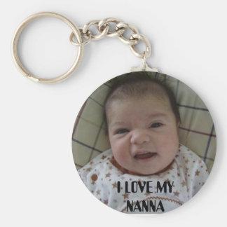 baby, I LOVE MY NANNA Basic Round Button Key Ring