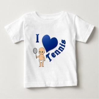 Baby I Love Tennis Tee Shirt