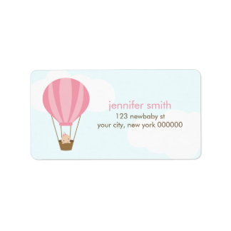 Baby in a Balloon Address Label
