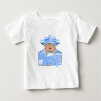 Baby in a gift box-blue version 2 tee shirt
