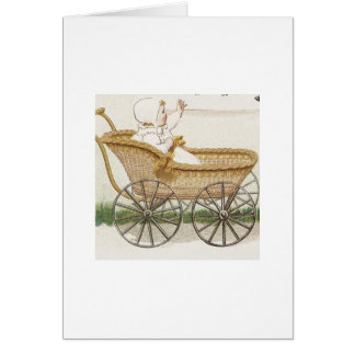 Baby in Carriage Greeting Card