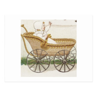 Baby in Carriage Postcard
