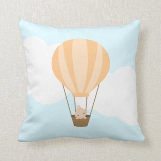 Baby in Hot Air Balloon {orange} Throw Pillow