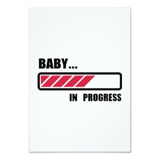 Baby in progress loading 9 cm x 13 cm invitation card