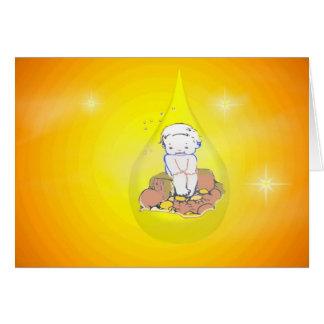 Baby In Teardrop - Congratulations Greeting Card