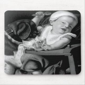 Baby in Trouble Mousepads