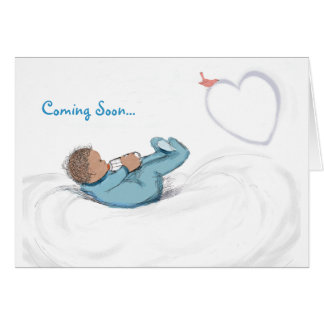 Baby-in-Waiting Congratulations-Boy Greeting Cards