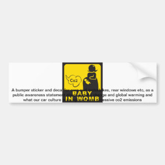 Baby in Womb bumper sticker