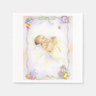 Baby infant baptism christening design disposable napkins