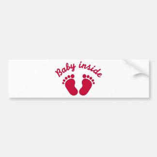 Baby inside feet bumper stickers