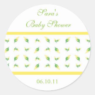 Baby Invitation or Favor Sticker - Rosebud