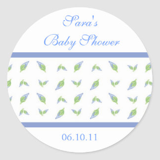 Baby Invitation or Favor Sticker - Rosebud