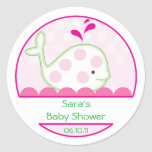 Baby Invitation or Favour Sticker - Baby Girl