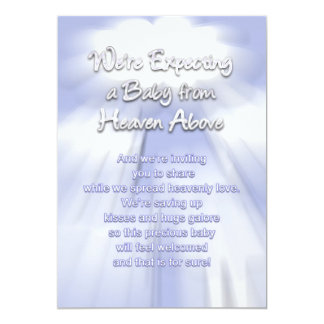 Baby Invitations - Heavenly