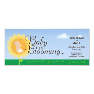 Baby Is Blooming Baby Shower Invitation