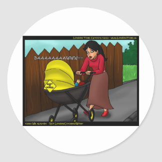 Baby Is Bored Funny Gifts Tees & Collectibles Round Sticker
