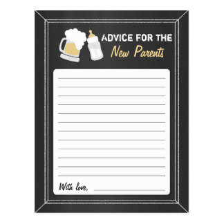 """""""Baby Is Brewing"""" Advice Postcard"""