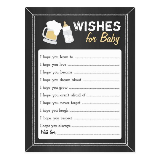 """Baby Is Brewing"" Wishes Postcard"