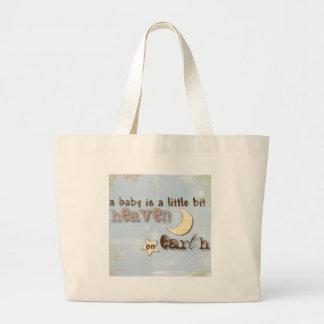 Baby is Heaven on Earth Jumbo Tote Bag