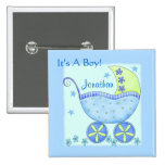 """Baby """"Its A Boy"""" Name Personalised Badge Pin"""