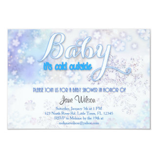 Baby it's cold outside Baby Shower 9 Cm X 13 Cm Invitation Card