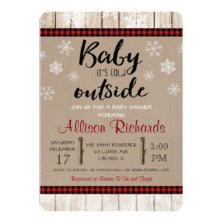Baby it's cold outside baby shower invitation