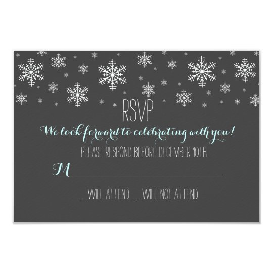 Baby it's Cold Outside Blue RSVP Card