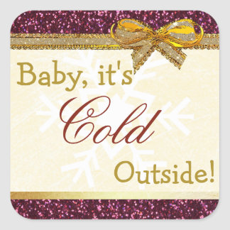 Baby, It's Cold Outside Christmas Quote Sticker