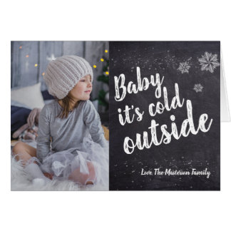 """Baby it's cold outside"" Holiday, MINI Card"