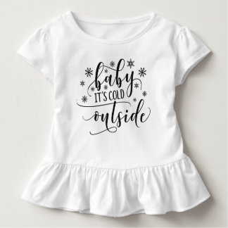 Baby It's Cold Outside Holiday   Ruffle Tee