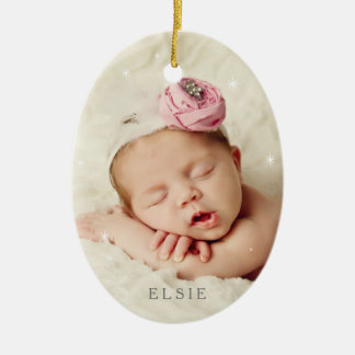 Baby It's Cold Outside in Rose Quartz Christmas Ornament
