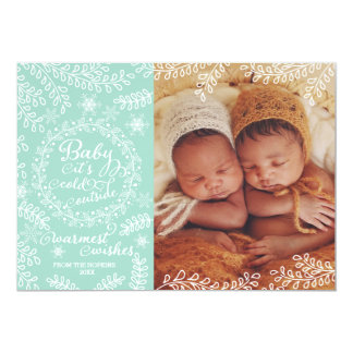 Baby it's Cold Outside Mint Holiday Photo Card