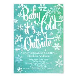 Baby It's Cold Outside Neutral Winter Baby Shower 13 Cm X 18 Cm Invitation Card