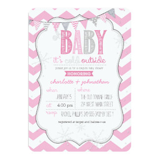 Baby It's Cold Outside Pink Couples Shower Invite