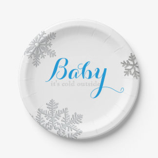 Baby It's Cold Outside Plates (boy)