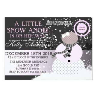 Baby its cold outside Snow Angel Baby shower Card