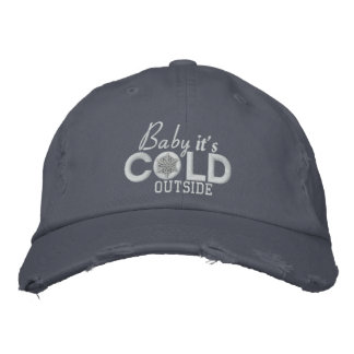 Baby It's Cold Outside Snow Embroidery Embroidered Baseball Cap