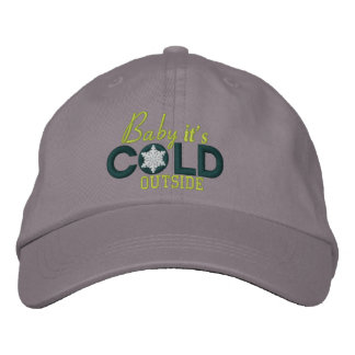 Baby It's Cold Outside Snowflakes Embroidered Embroidered Baseball Cap