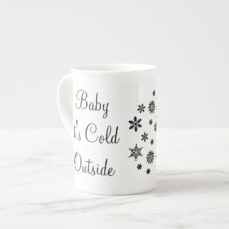 Baby it's Cold Outside Snowflakes Mug