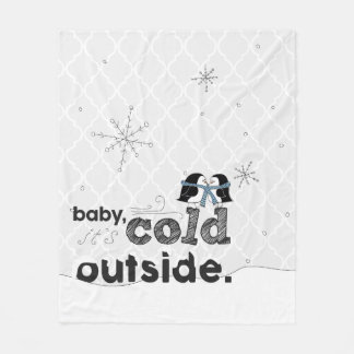 Baby, it's Cold Outside Snuggly Penguin Blanket