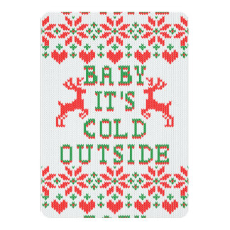 Baby Its Cold Outside Ugly Christmas Sweater Style Card