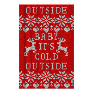 Baby It's Cold Outside Ugly Sweater red Style 14 Cm X 21.5 Cm Flyer