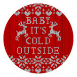 Baby It's Cold Outside Ugly Sweater Style 13 Cm X 13 Cm Square Invitation Card